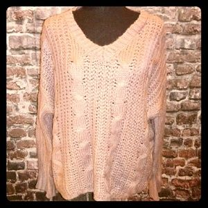 Rue21 Light pink chunky Knit Womens Sweater